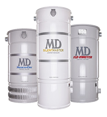 MD offers a great line of central vacuum units and accessories.